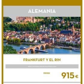 VIAJE A ALEMANIA: Frankfurt y el Rin en el Puente de Diciembre